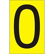 50mm Yellow Vinyl - Character 'O'   (Pack of 10)