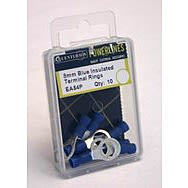 8mm Blue Insulated Terminal Rings (Pack of 10)