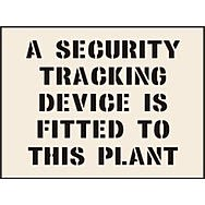 A Security Tracking Device is Fitted to This Plant Stencil (300 x 400mm)
