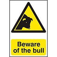Beware of the bull - PVC (200 x 300mm)
