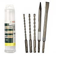 Bosch 2607019456 5 Piece SDS Chisel and Drill Bit Set