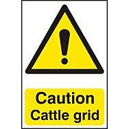 Caution Cattle grid - PVC (200 x 300mm)