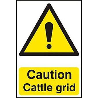 Caution Cattle grid - PVC (200 x 300mm)