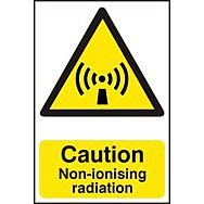Caution Non-ionising radiation - PVC (200 x 300mm)