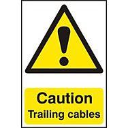 Caution Trailing cables - PVC (200 x 300mm)