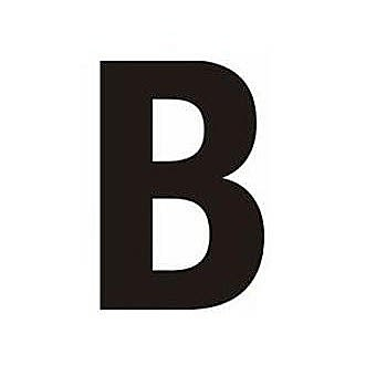 Centurion BH75BP Black Self Adhesive Vinyl Letter B
