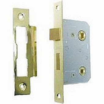 "Centurion SP220P Bathroom Mortice Lock 2½"" PB"