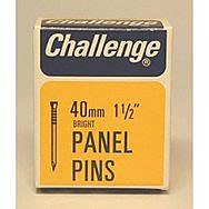 Challenge 40mm Bright Panel Pins 50g Box