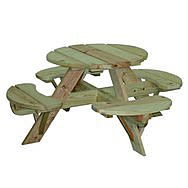 Children's Round Garden Picnic Table and Bench