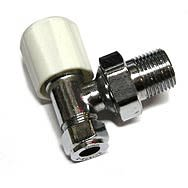 Chrome Radiator Valve 10mm Angled