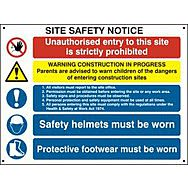 Scan Composite site safety notice - FMX (800 x 600mm)