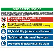 Composite site safety notice - FMX (800 x 600mm)