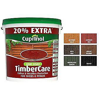 Cuprinol One Coat Timbercare 6L - Rustic Brown