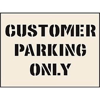 Customer Park Only Stencil (300 x 400mm)