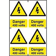Danger 400 volts - PVC (200 x 300mm)