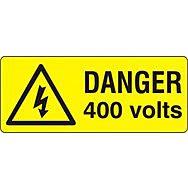 Danger 400 volts - SAV (49 x 20mm, sheet of 56 labels)