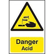 Danger Acid - PVC (200 x 300mm)