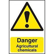 Danger Agricultural chemicals - PVC (200 x 300mm)