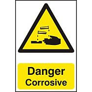 Danger Corrosive - PVC (200 x 300mm)