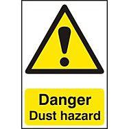 Danger Dust hazard - PVC (200 x 300mm)
