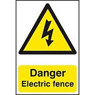 Danger Electric fence - PVC (200 x 300mm)