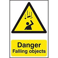 Danger Falling objects - PVC (200 x 300mm)