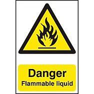 Danger Flammable liquid - PVC (200 x 300mm)
