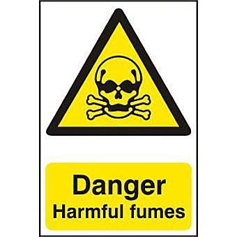 Danger Harmful fumes - PVC (200 x 300mm)