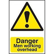 Danger Men working overhead - PVC (400 x 600mm)