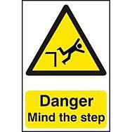 Danger Mind the step - PVC (200 x 300mm)