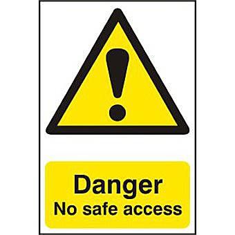 Danger No safe access - PVC (200 x 300mm)