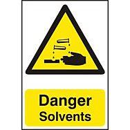 Danger Solvents - PVC (200 x 300mm)