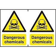 Dangerous chemicals - PVC (300 x 200mm)