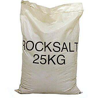Pure Rock Salt 25 Kilo Bag De Icing Rock Salt 25kg