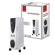 De Vielle Premium White & Black 9 Fin 2000W Oil Filled Radiator
