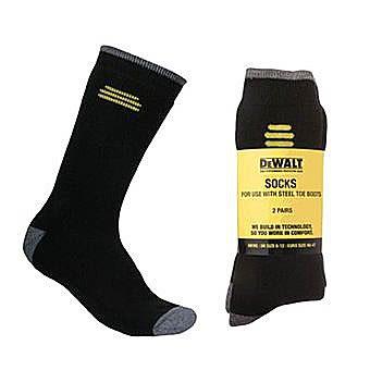 DeWalt Socks Size 6-12 Pack of 2