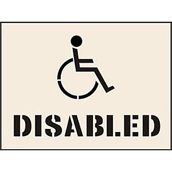 Disabled Stencil (190 x 300mm)