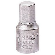 Draper 38326 12mm Hexagon 3/8 Square Drive Drain Plug Key