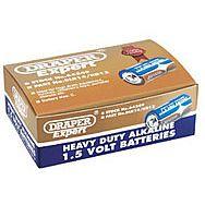 Draper 64249 Trade Pack Of 12 C-size Heavy Duty Alkaline Batteries
