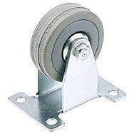 Draper 65482 100mm Dia. Fixed Plate Fixing Rubber Castor - S.w.l. 80kg