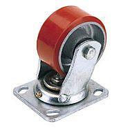Draper 65529 160mm Dia. Swivel Plate Fixing Heavy Duty Polyurethane Wheel - S.w.l. 400kg
