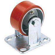 Draper 65531 160mm Dia. Fixed Plate Fixing Heavy Duty Polyurethane Wheel - S.w.l. 400kg