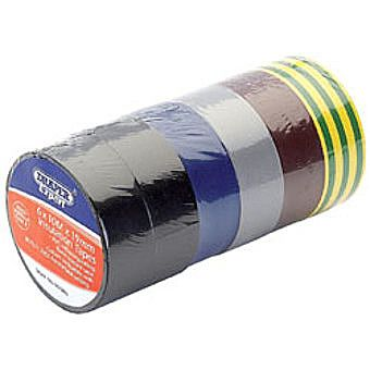 Draper 90086 Expert 6 X 10m X 19mm Mixed Colours Insulation Tape To Bsen60454/type2