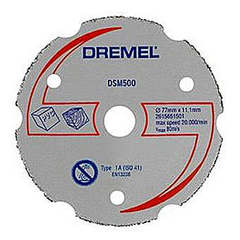 Dremel DSM500 Multi Purpose Carbide Cutting Wheel 2615S500JA - DSM20