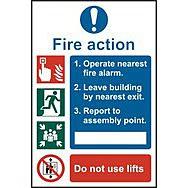 Fire action procedure - PVC (200 x 300mm)