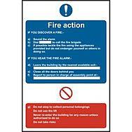 Fire action procedure - RPVC (200 x 300mm)