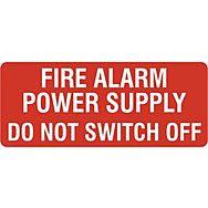 Fire alarm power supply - SAV (49 x 20mm, sheet of 56 labels)