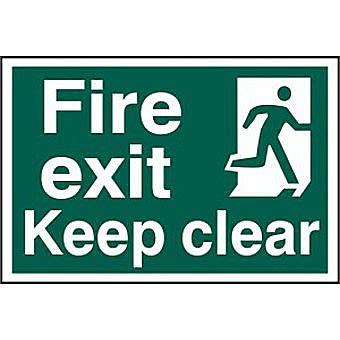 Fire exit Keep clear - PVC (300 x 200mm)