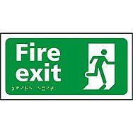 Fire exit running man - Taktyle (300 x 150mm)