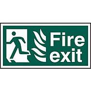 Fire exit running man left (NHS) - PVC (300x 150mm)